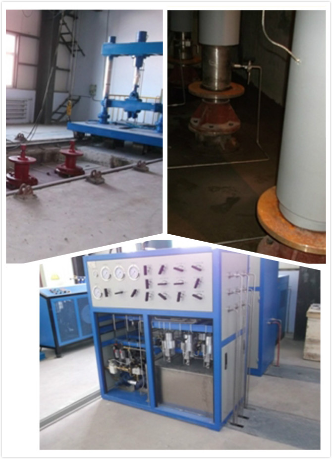 吉林油田采油工艺研究院井下工具封隔器试验系统现场图