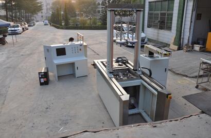 碳纤维气瓶水压外测法试验的自动检测线1