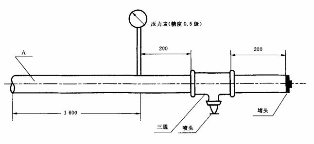 洒水喷头流量试验装置示意图